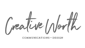 Creative Worth Communications and Design logo