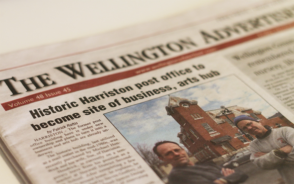 Media Coverage: The Wellington Advertiser