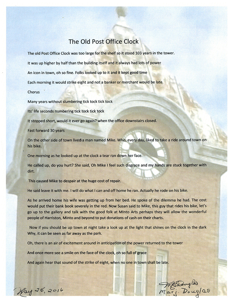 The Old Post Clock Tower Poem