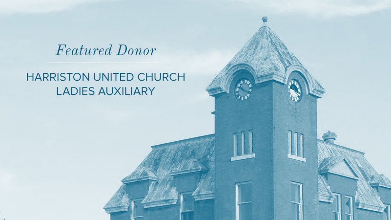 Harriston United Church Ladies Auxiliary Donate to The Old Post