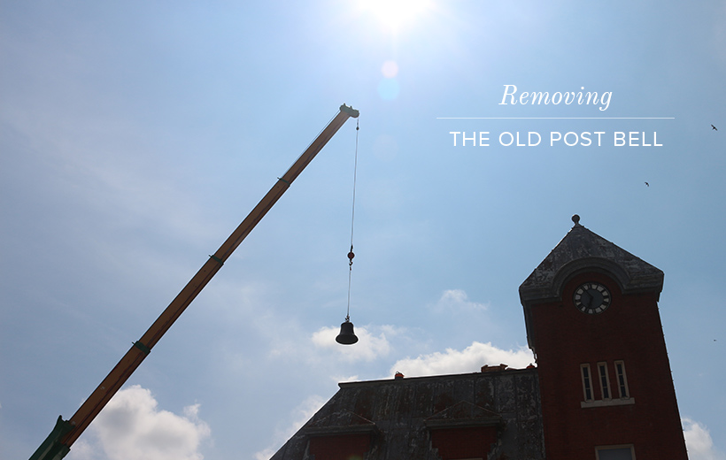 Removing the Old Post Bell