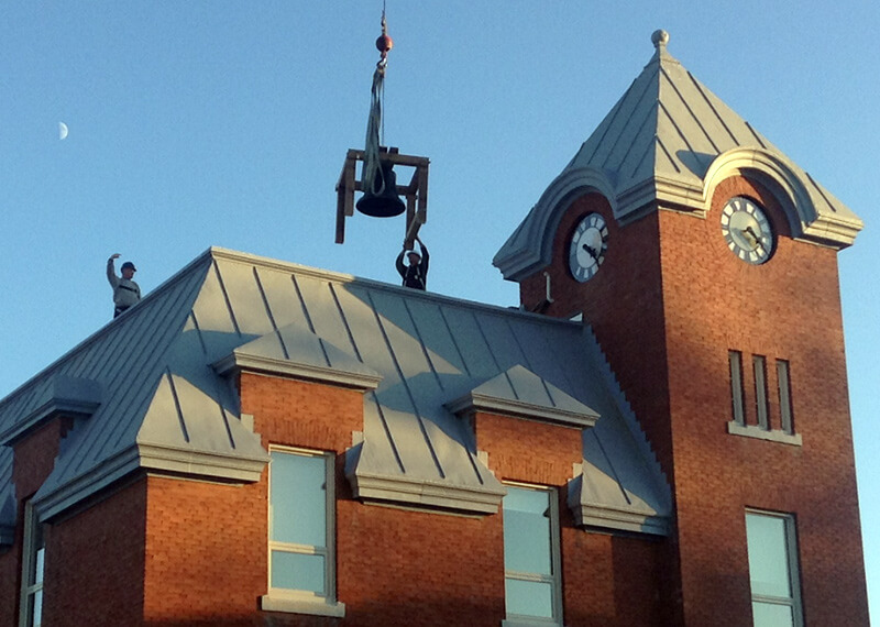 bell returned to roof of harriston old post office