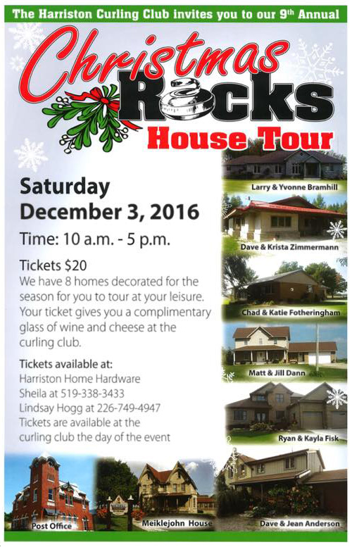harriston curling club holiday home tour 2016